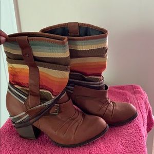 Brown Heel Boots Great Condition.